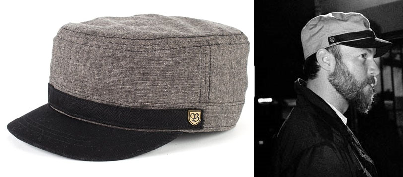 Busker Hat by Brixton- Black/Taupe Tweed