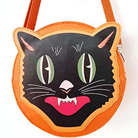 Cat Face Halloween Crossbody Purse by Oblong Box Shop