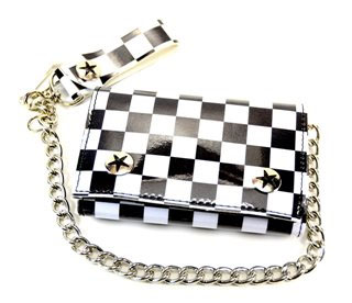 Checkered Canvas Wallet by Addicted