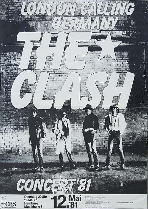 #2 Clash London Calling - German Show Poster - Fine Art Print by Annex