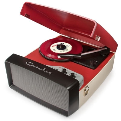 Collegiate Turntable by Crosley- Red & Cream (Converts vinyl to digital)