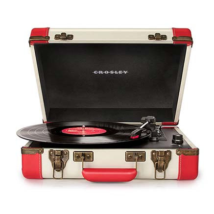 Executive USB Turntable by Crosley- Red/Cream (Converts vinyl to digital)