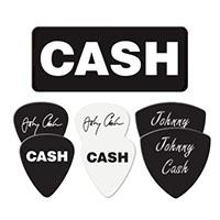 Johnny Cash- Logo Guitar Picks In Collectors Tin