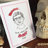 Jeffrey Dahmer Serial Killer Valentine by Graveface Records