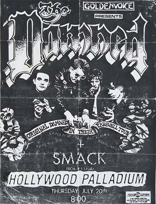 The Damned - 1989 Hollywood Palladium Farewell Tour Flyer Poster - Fine Art Print by Annex