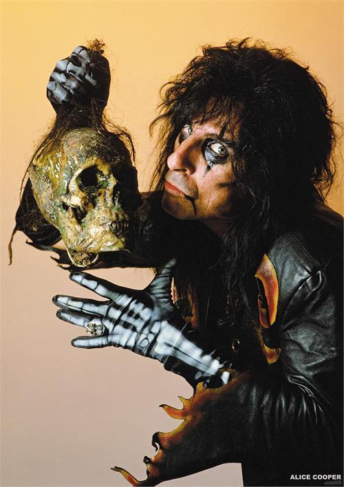 Alice Cooper- Skull poster (B9)