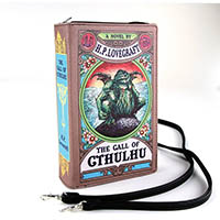 Cthulhu Book Wristlet Clutch / Crossbody Bag by Comeco