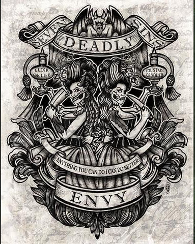 Envy Art Print from Se7en Deadly - SALE