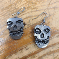Stainless Steel Misfits Dangle Earrings by Switchblade Stiletto