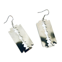 Razor Blade Dangle Earrings by Switchblade Stiletto