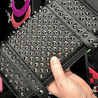 Evil Garden Studded Wallet / Clutch by Lux De Ville - Matte Black