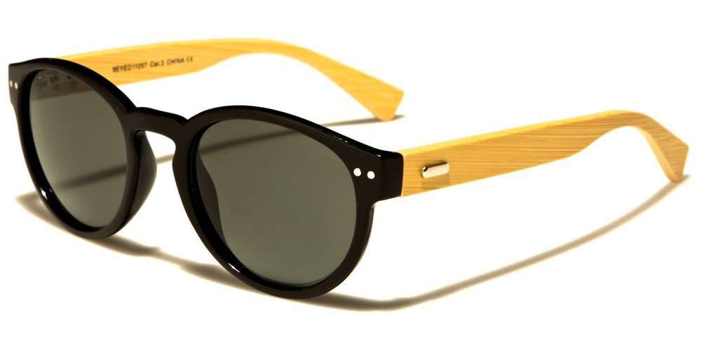 Eye-Dentification Bamboo Arm Sunglasses (Various Colors)