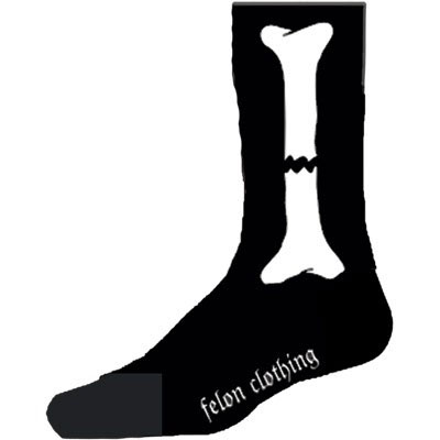 Broken Bones guys socks by Felon Clothing