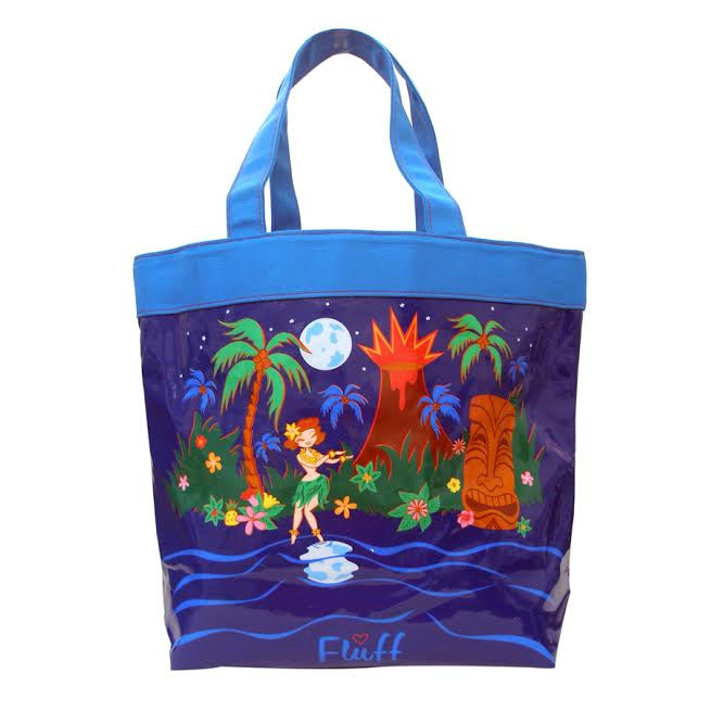 Moonlight Hula Canvas Tote Bag by Fluff - SALE