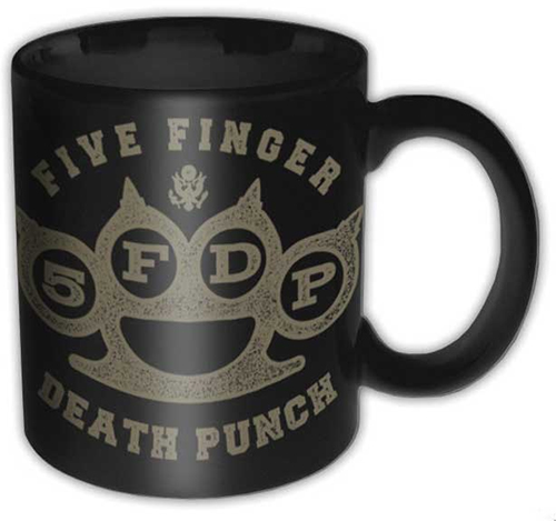 Five Finger Death Punch- Brass Knuckles coffee mug