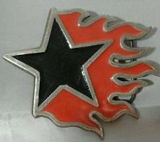 Flaming Star Belt Buckle (bb32) (Sale price!)