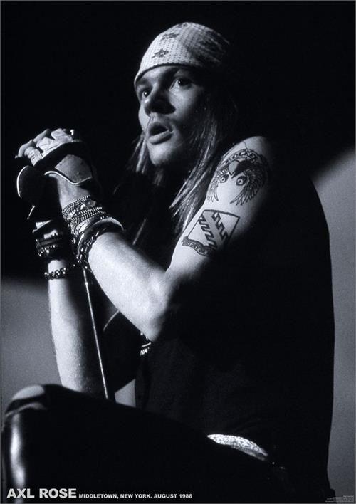 Guns N Roses- Axl Rose (Black & White) poster