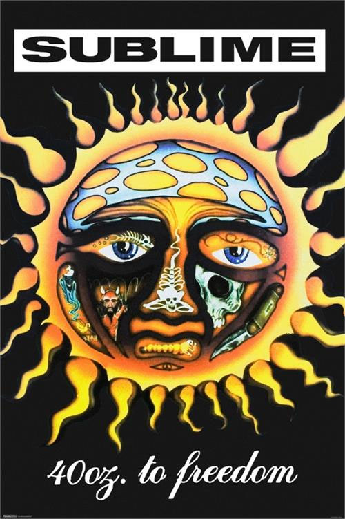 Sublime- 40oz To Freedom (Black) poster