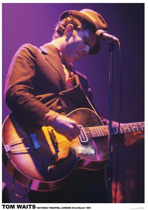 Tom Waits- Live poster (B13)