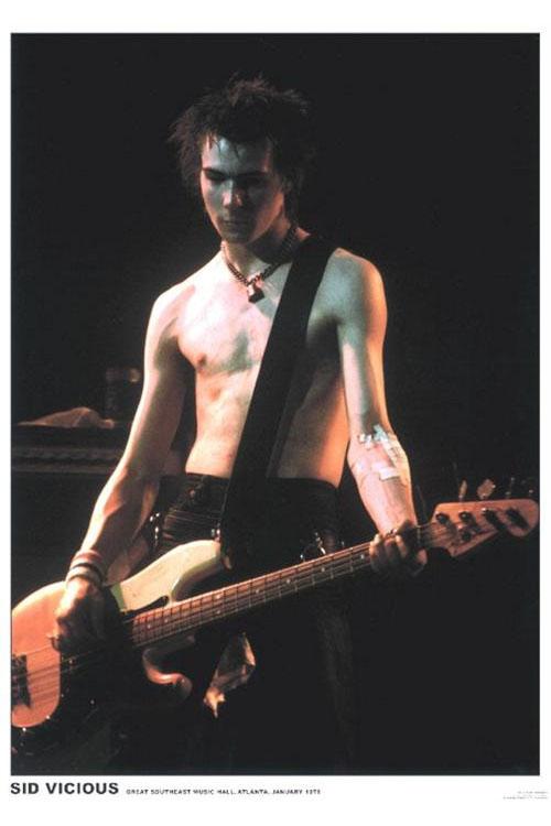 Sex Pistols- Sid Vicious Live poster