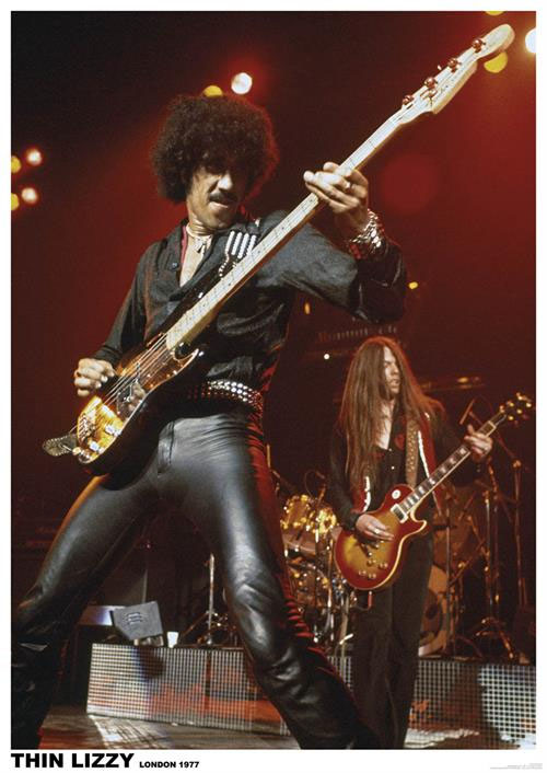 Thin Lizzy- London 1977 poster (D3)