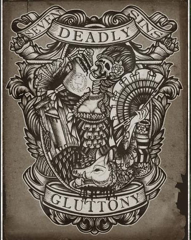 Gluttony Art Print from Se7en Deadly - SALE