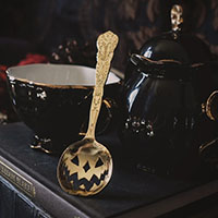 Haunted Hallows Tea Spoon by Lively Ghosts - Gold