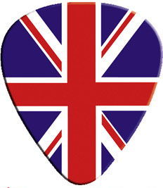 Union Jack Guitar Pick