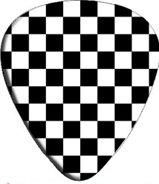 Checkered Guitar Pick