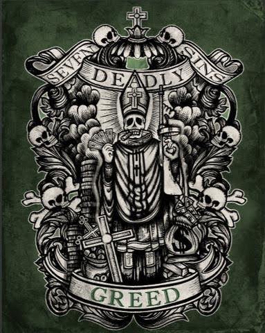 Greed Art Print from Se7en Deadly - SALE