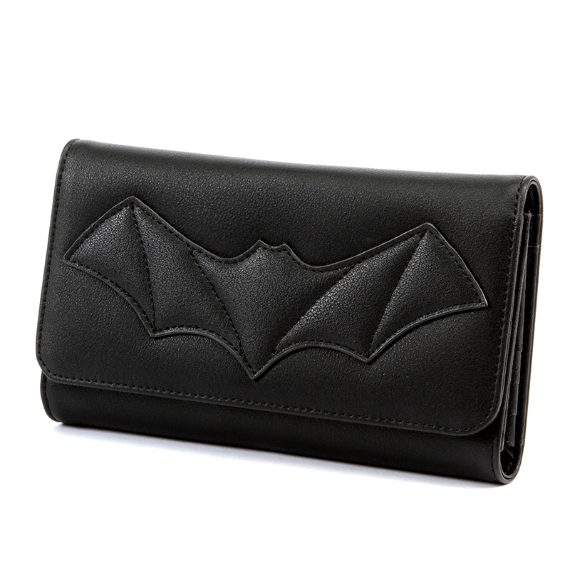 Halloween After Midnight Elvira Bat Wallet / Clutch by Lux De Ville - Black