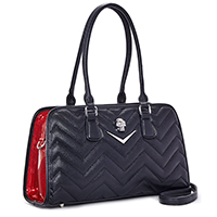 Hellraiser Tote by Lux De Ville - Black & Red Venom Sparkle