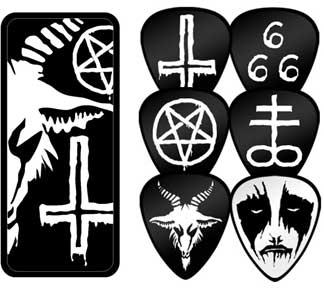 Black Metal Guitar Picks In Collectors Tin