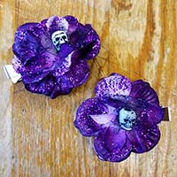 Rosie The Reaper hair clips by Hairy Scary - SALE - Purple only