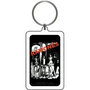 Ramones- Band In Front Of CBGBs Lucite Keychain