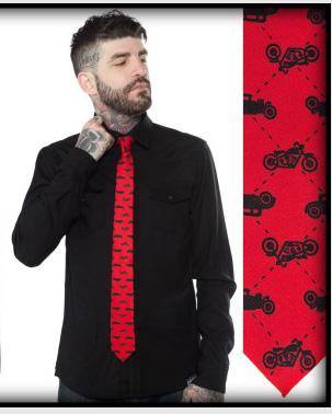 The Hotrod Tie from Kustom Kreeps / Sourpuss - in red