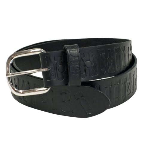 Bomber embossed belt by Lucky 13 - SALE - black only sz S & XL