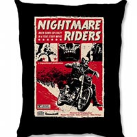 Nightmare Riders Pillow by Liquorbrand