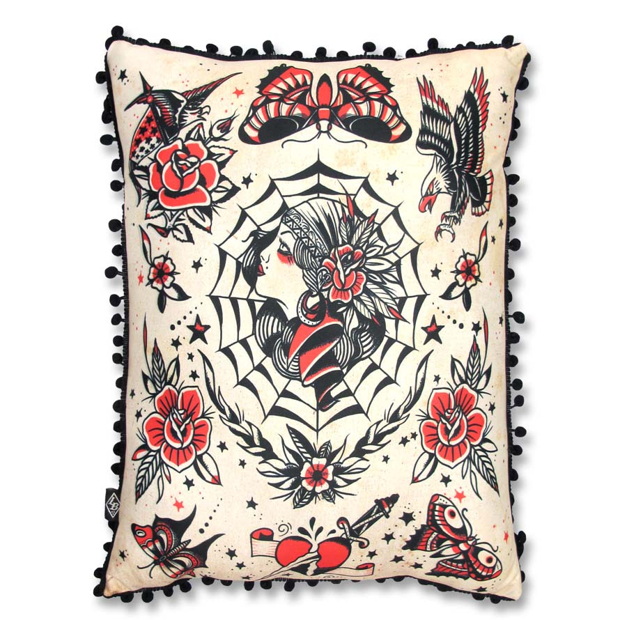 Gypsy Queen Pillow by Liquorbrand