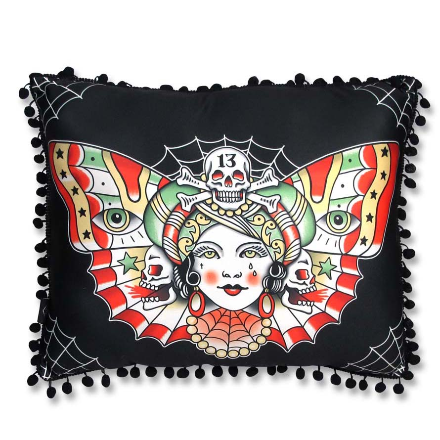 Butterfly Gypsy Rectangle Pillow by Liquorbrand