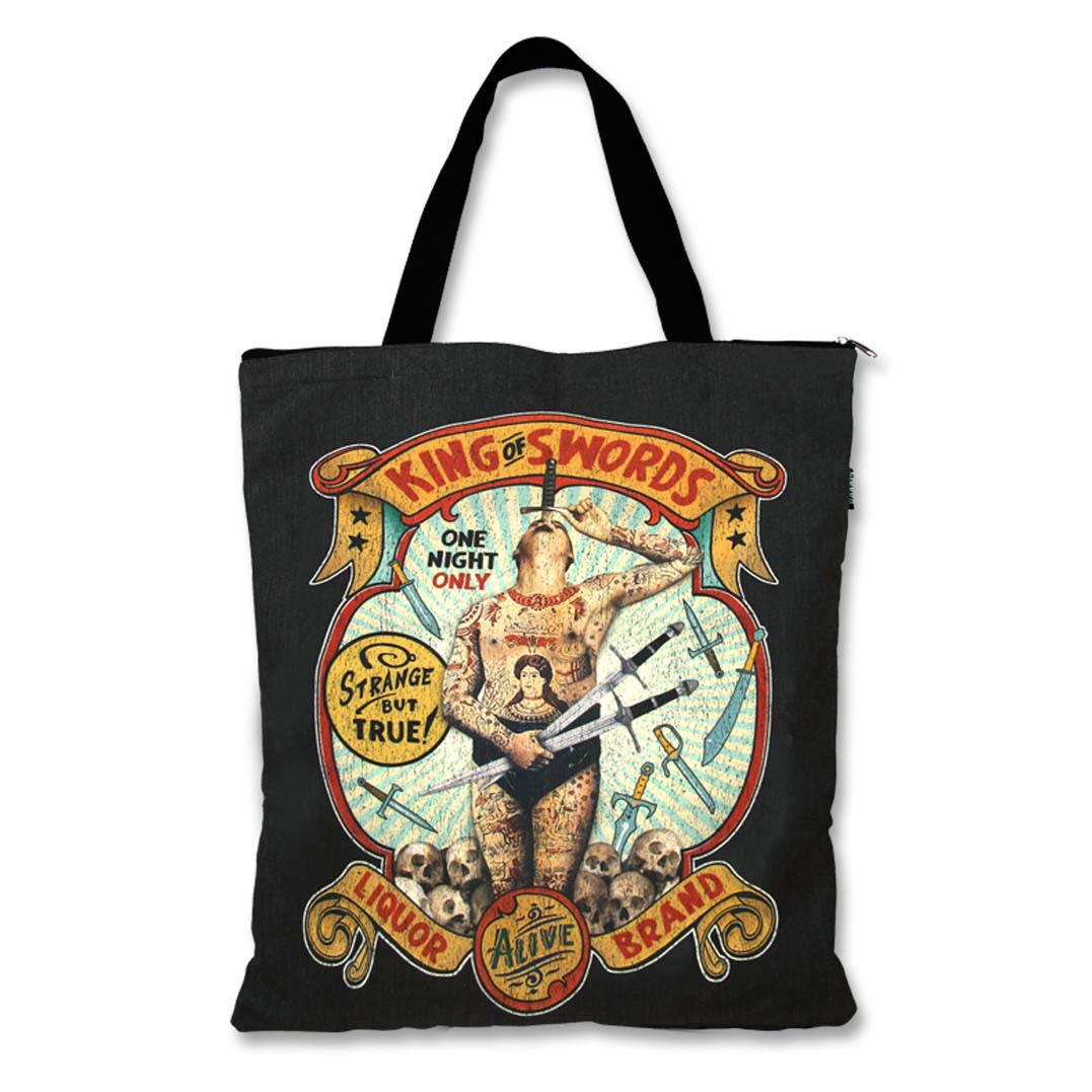 King of Swords Sideshow Tote by Liquorbrand