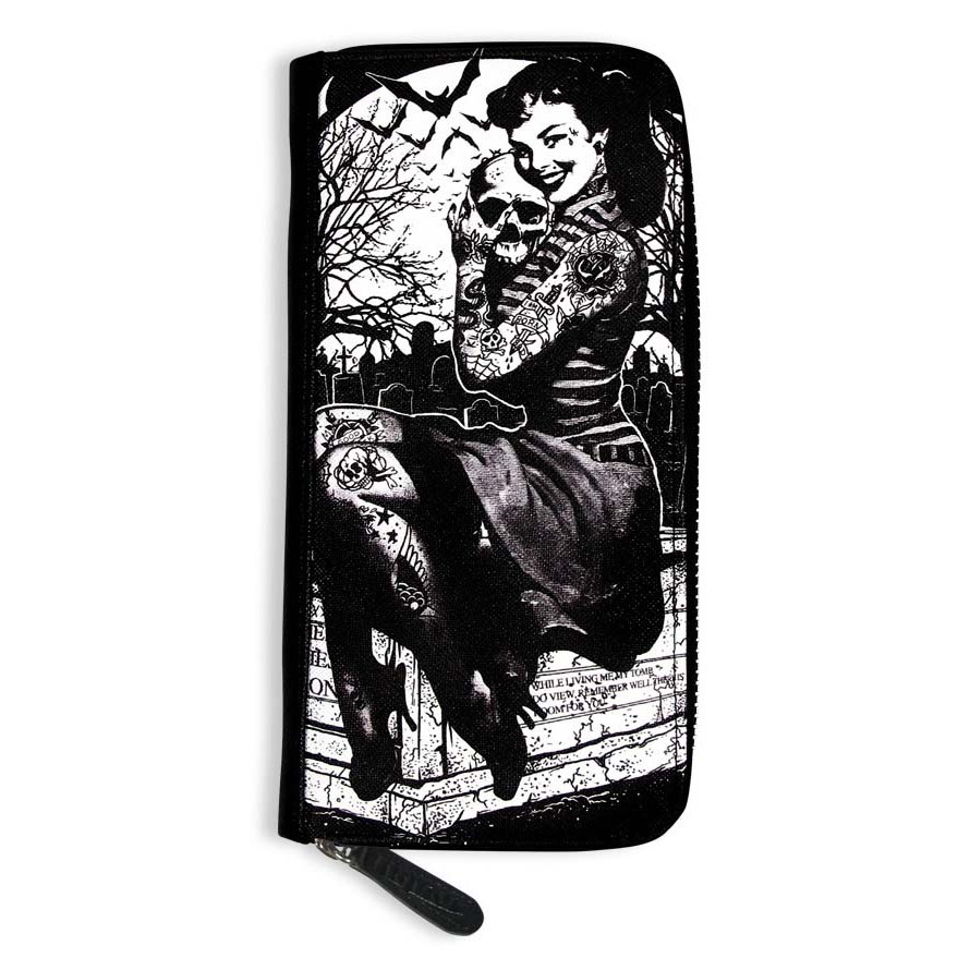 Graveyard Chick Clutch Wallet by Liquorbrand