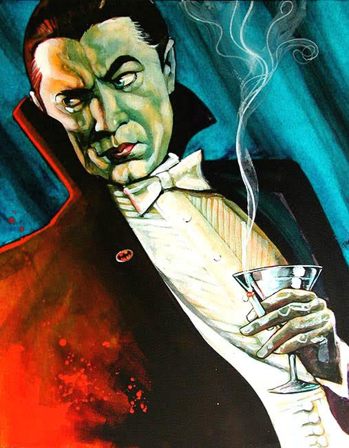 Dracula Mike Bell -  Fine Art Print - Bat Man
