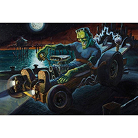 Hot Rod Frankenestein Damian Fulton -  Fine Art Print - Fully Charged
