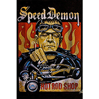 Hot Rod Frankenestein Mike Bell -  Fine Art Print - Speed Demon
