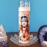 Saint Axl Prayer Candle by Dirty Lola / art by Scarlett River