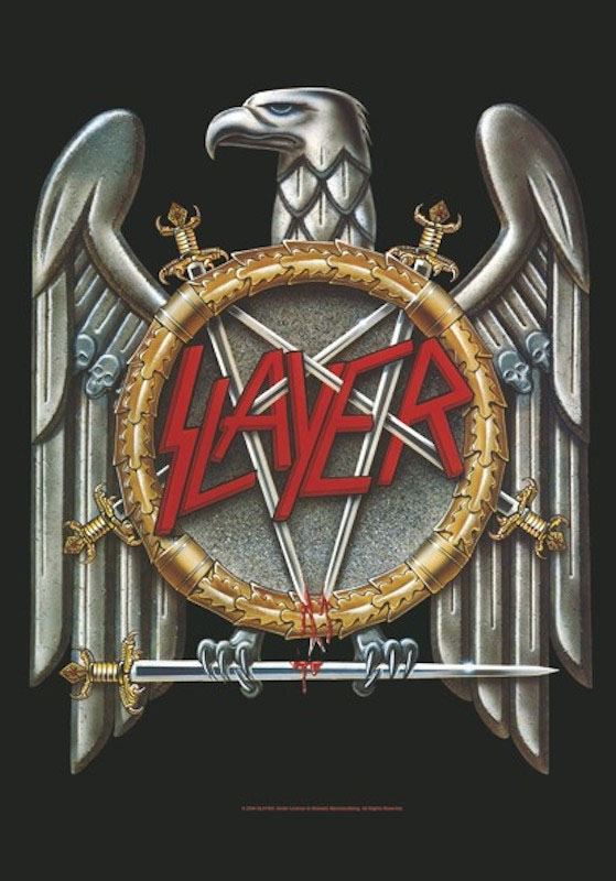 Slayer- Eagle Fabric Poster