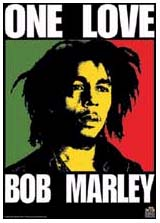 Bob Marley- One Love Fabric Poster/Wall Tapestry
