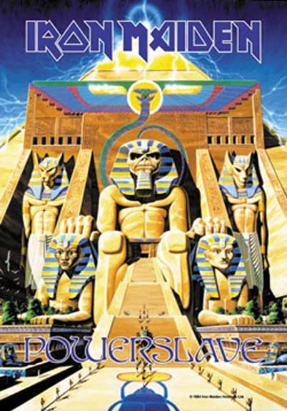 Iron Maiden- Powerslave Fabric Poster/Wall Tapestry
