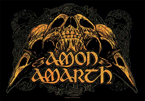 Amon Amarth- Skulls Fabric Poster/Wall Tapestry
